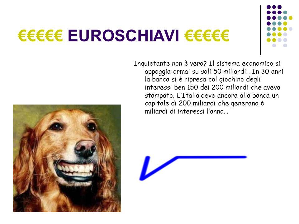EUROSCHIAVI Inquietante non è vero. Il sistema economico si appoggia ormai su soli 50 miliardi.
