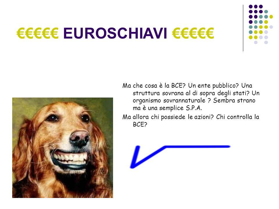 EUROSCHIAVI Ma che cosa è la BCE. Un ente pubblico.