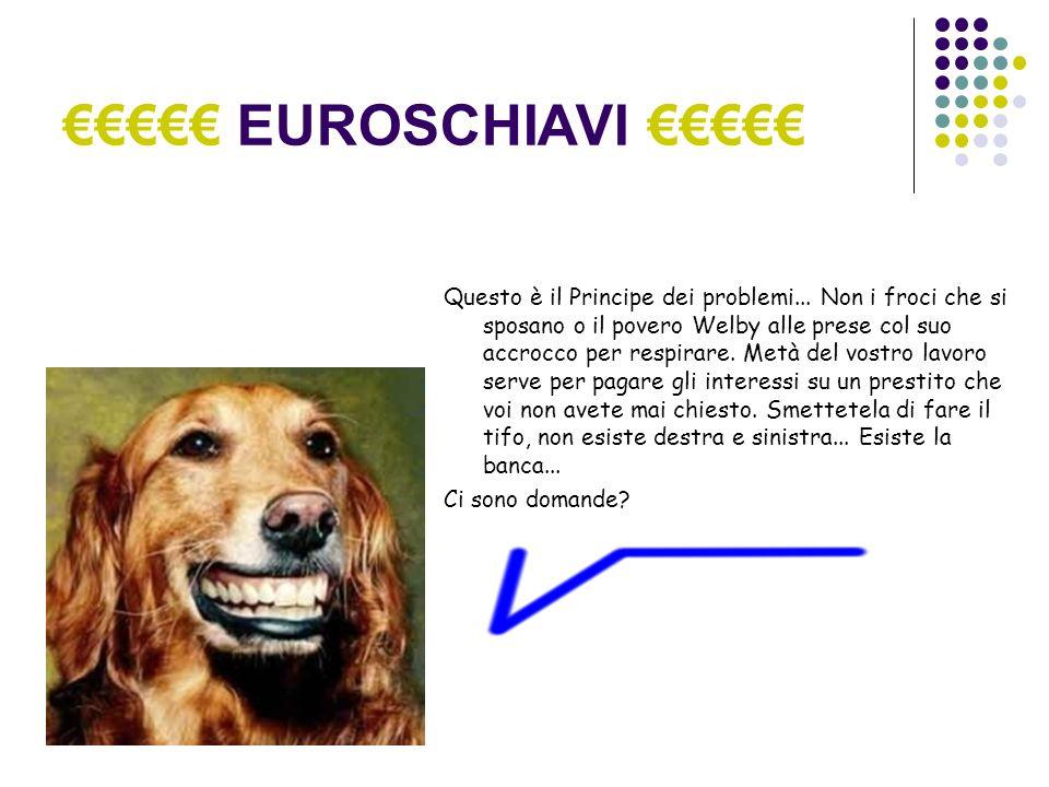 EUROSCHIAVI...Il tuo esempio si basa su un sistema chiuso.