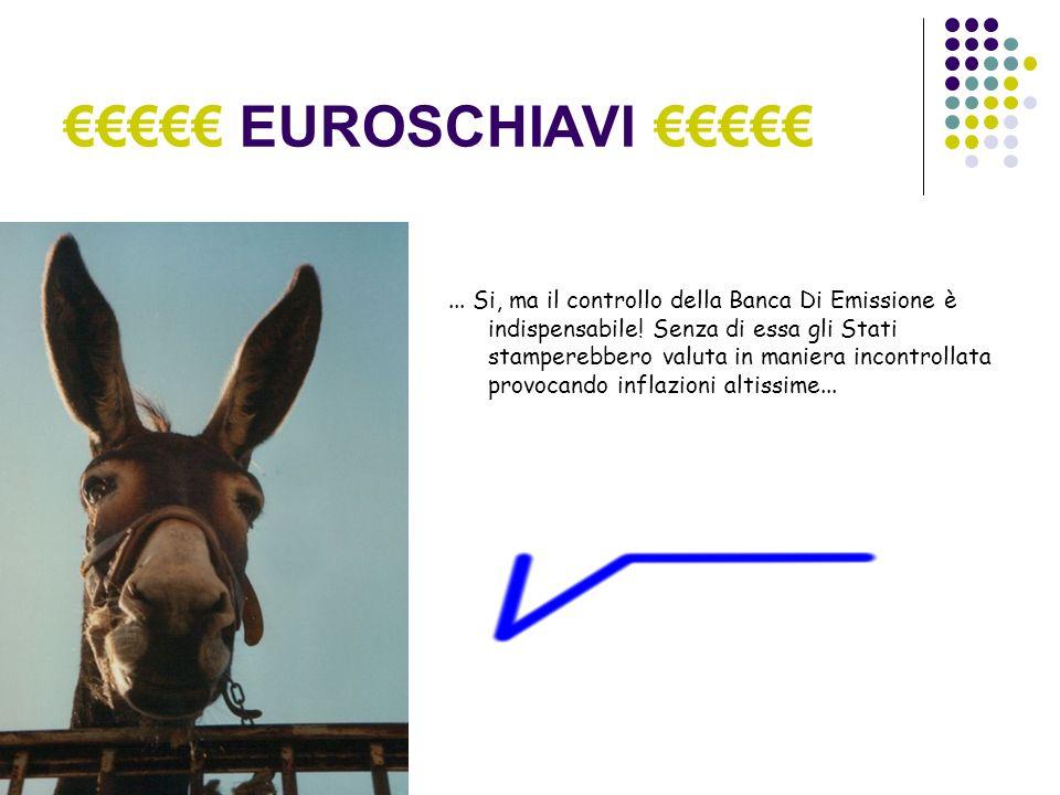EUROSCHIAVI... Si, ma il controllo della Banca Di Emissione è indispensabile.