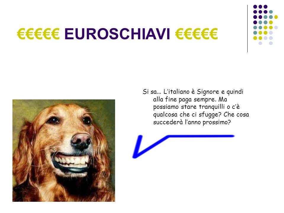 EUROSCHIAVI Si sa... Litaliano è Signore e quindi alla fine paga sempre.