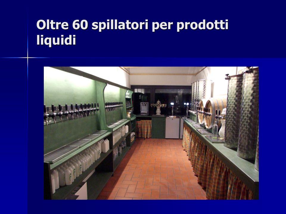 Oltre 60 spillatori per prodotti liquidi