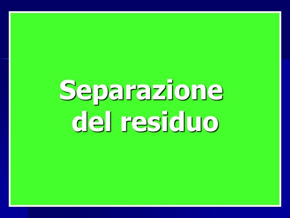 Separazione del residuo