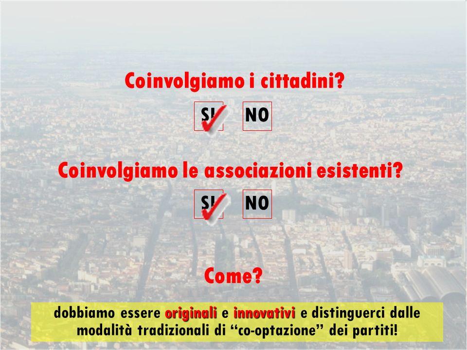 Coinvolgiamo i cittadini. Come. Coinvolgiamo le associazioni esistenti.
