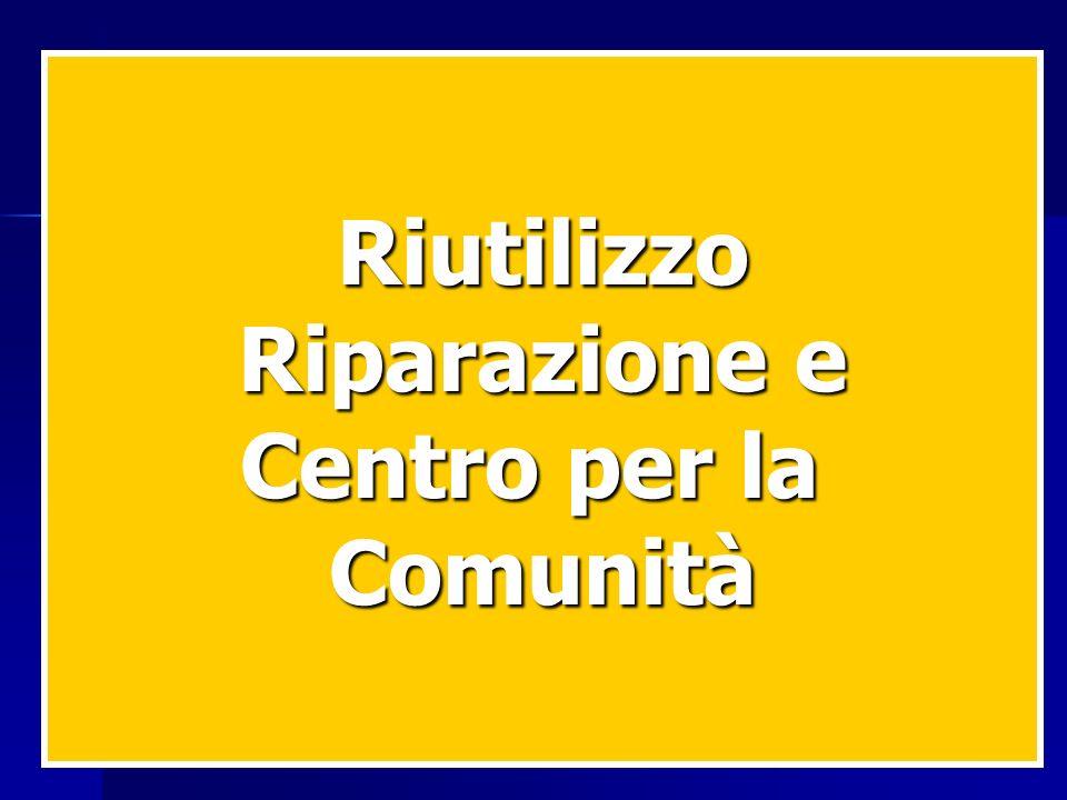 Riutilizzo Riparazione e Centro per la Comunità