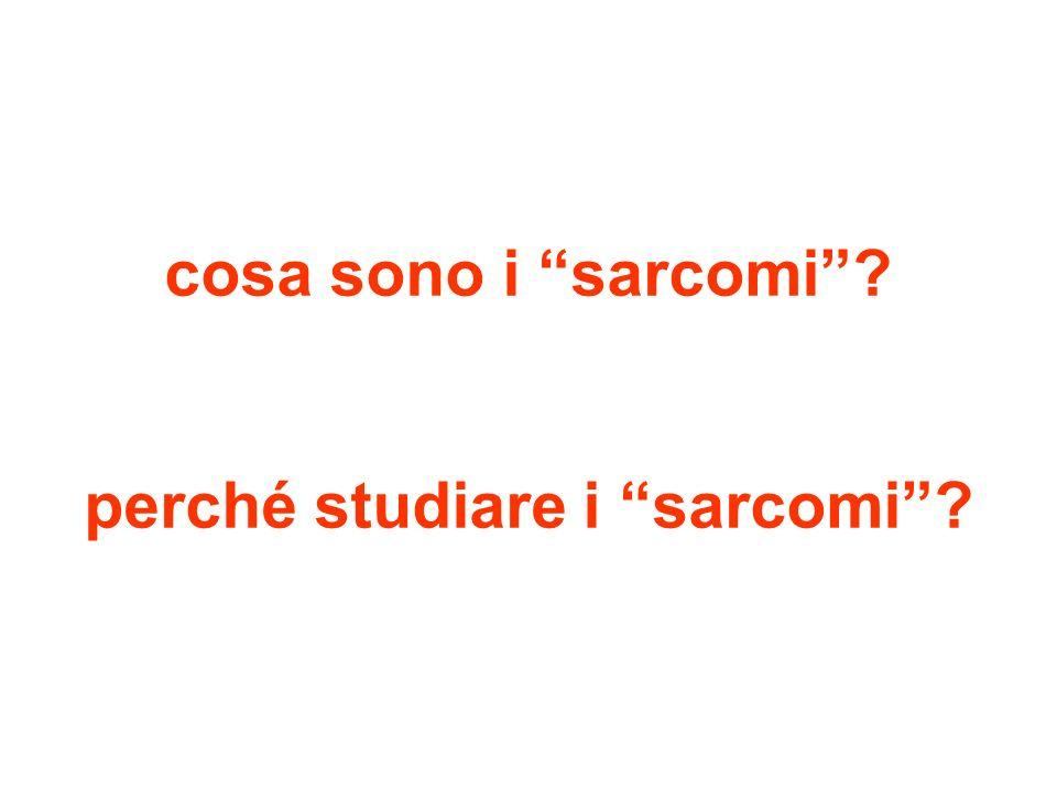 cosa sono i sarcomi perché studiare i sarcomi
