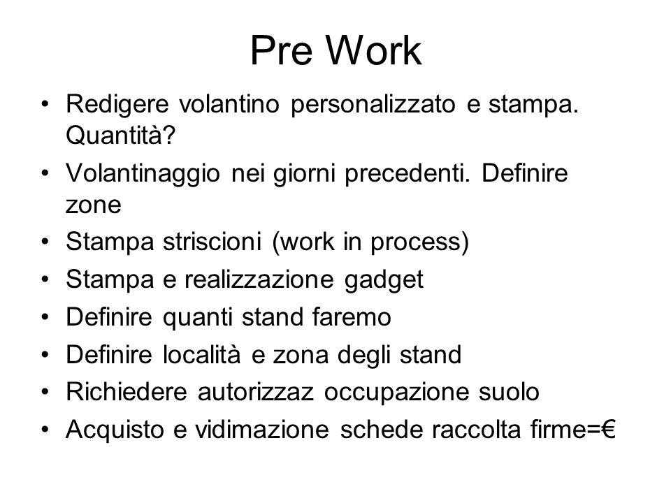 Pre Work Redigere volantino personalizzato e stampa.