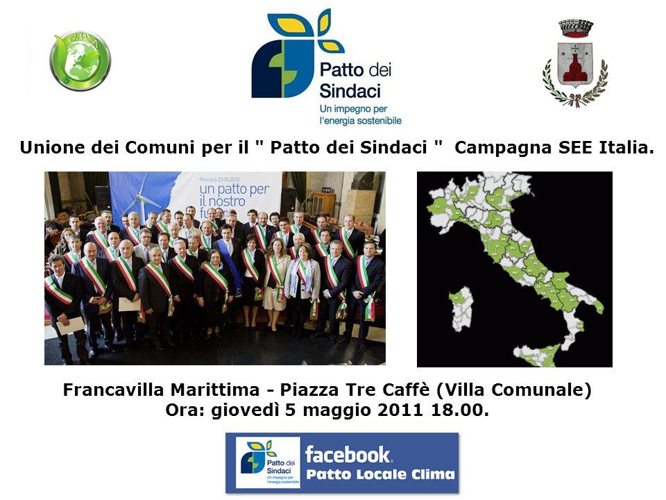 Unione dei Comuni per il Patto dei Sindaci Campagna SEE Italia.