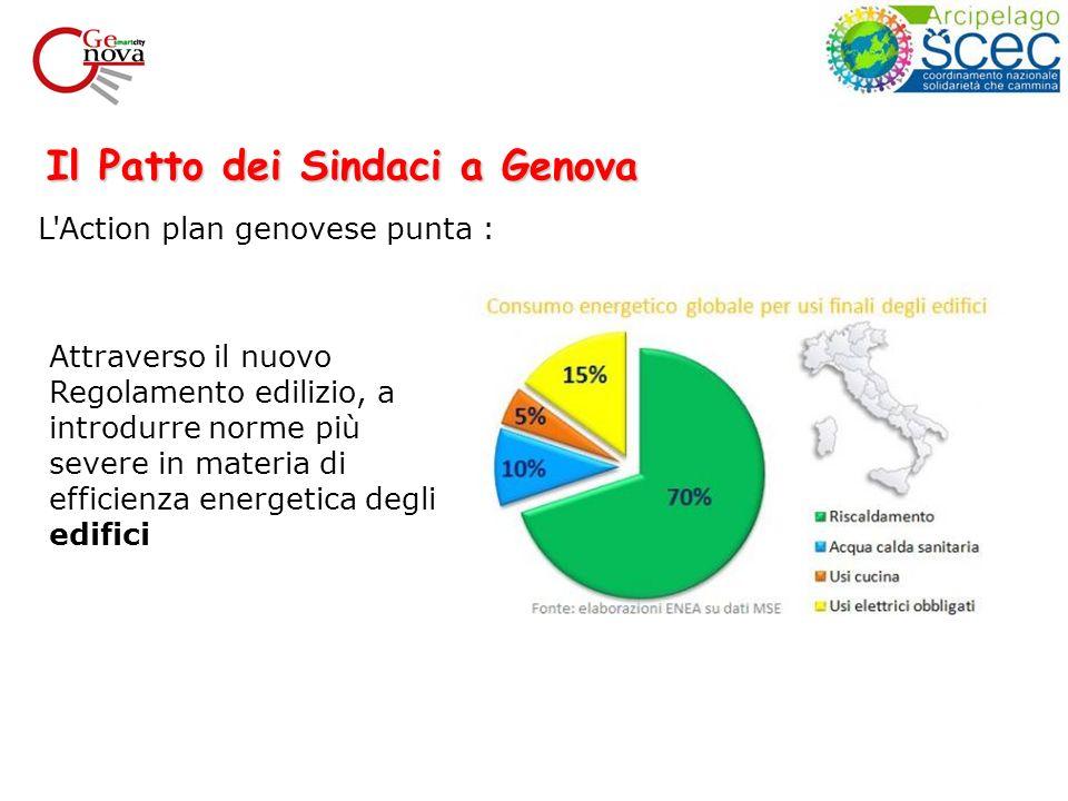 Il Patto dei Sindaci a Genova Attraverso il nuovo Regolamento edilizio, a introdurre norme più severe in materia di efficienza energetica degli edifici L Action plan genovese punta :