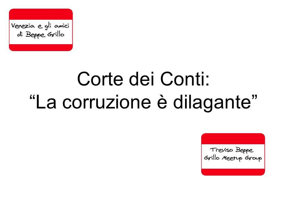 Corte dei Conti: La corruzione è dilagante