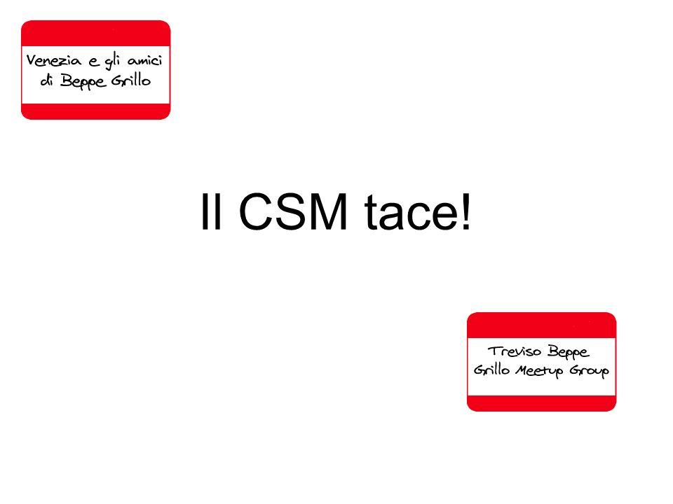 Il CSM tace!