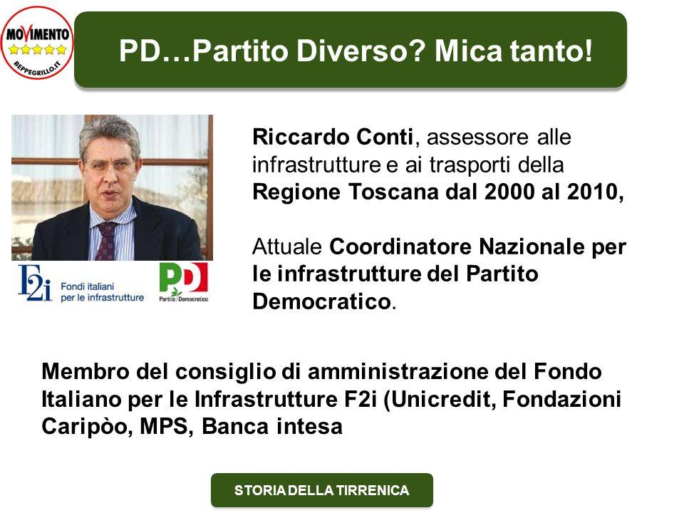 STORIA DELLA TIRRENICA Riccardo Conti, assessore alle infrastrutture e ai trasporti della Regione Toscana dal 2000 al 2010, Attuale Coordinatore Nazio