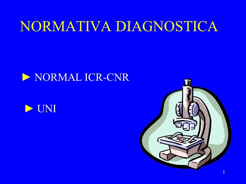 1 NORMATIVA DIAGNOSTICA NORMAL ICR-CNR UNI