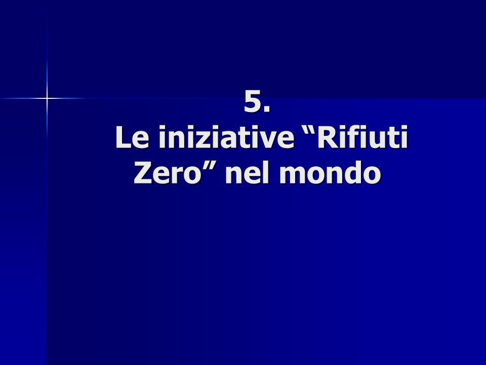 5. Le iniziative Rifiuti Zero nel mondo