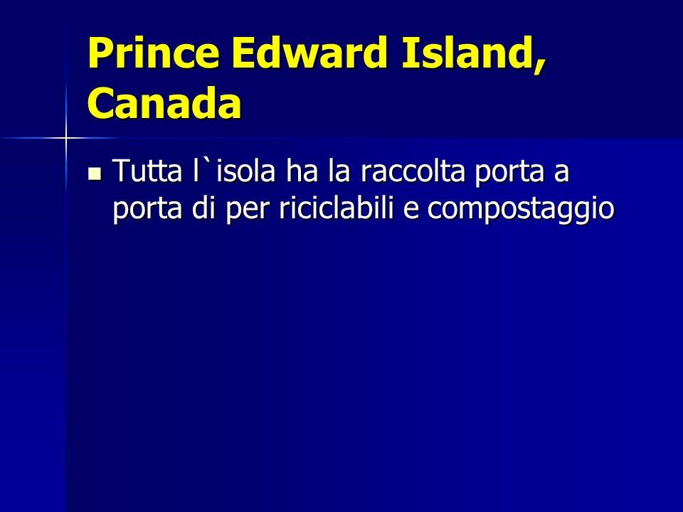 Prince Edward Island, Canada Tutta l`isola ha la raccolta porta a porta di per riciclabili e compostaggio Tutta l`isola ha la raccolta porta a porta d