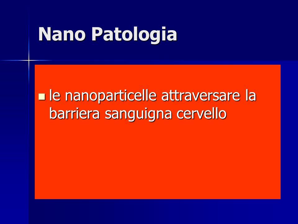 Nano Patologia le nanoparticelle attraversare la barriera sanguigna cervello le nanoparticelle attraversare la barriera sanguigna cervello