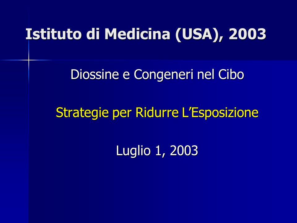 Istituto di Medicina (USA), 2003 Diossine e Congeneri nel Cibo Strategie per Ridurre LEsposizione Luglio 1, 2003