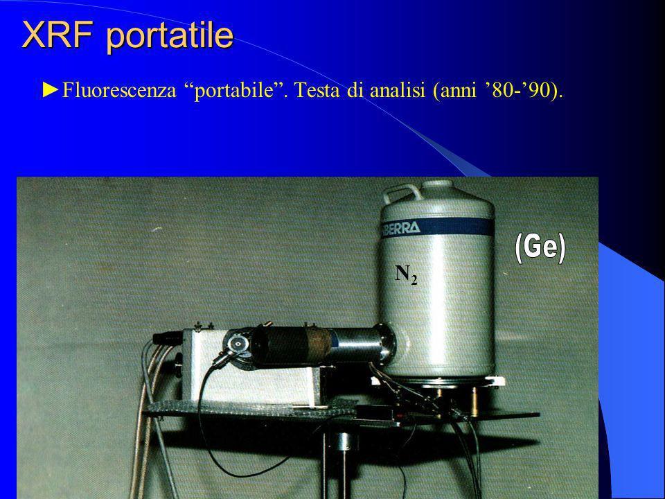 Fluorescenza portabile. Testa di analisi (anni 80-90). XRF portatile N2N2