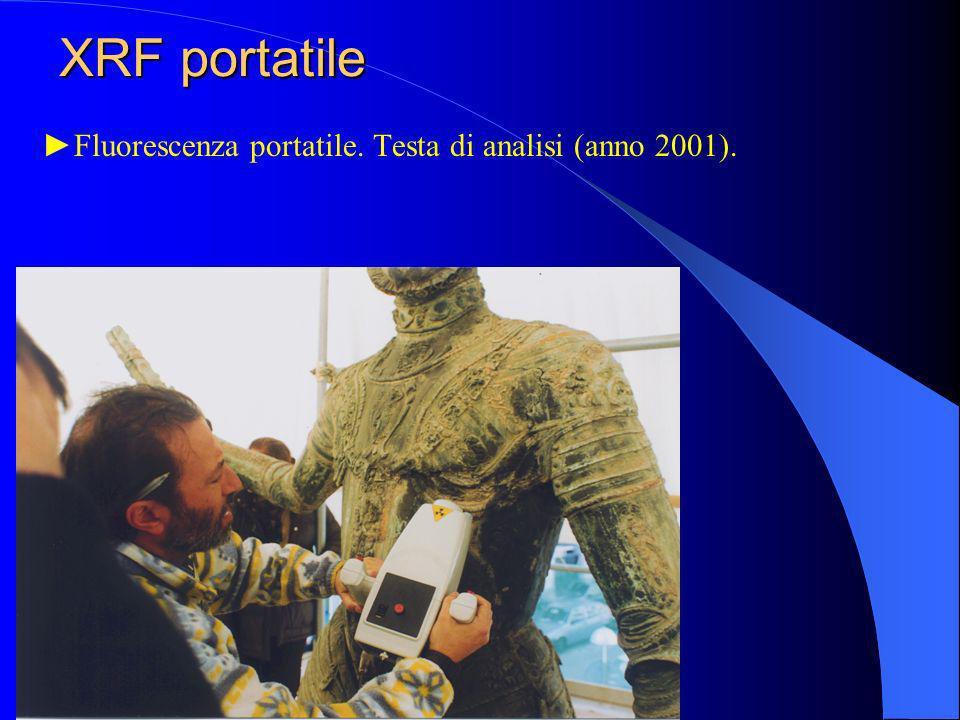 Fluorescenza portatile. Testa di analisi (anno 2001). XRF portatile