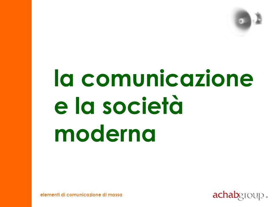 elementi di comunicazione di massa evoluzione comunicazione e società comunicazione interpersonale comunicazione di massa CORPO (gestualità) MEZZO (scrittura)