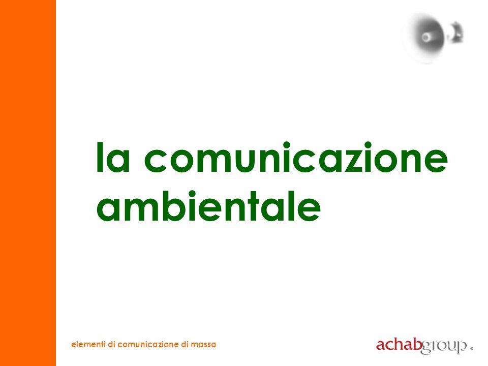 elementi di comunicazione di massa differenze comunicare lambiente comunicazione (ottenere un comportamento) informazione (trasmettere cognizioni)