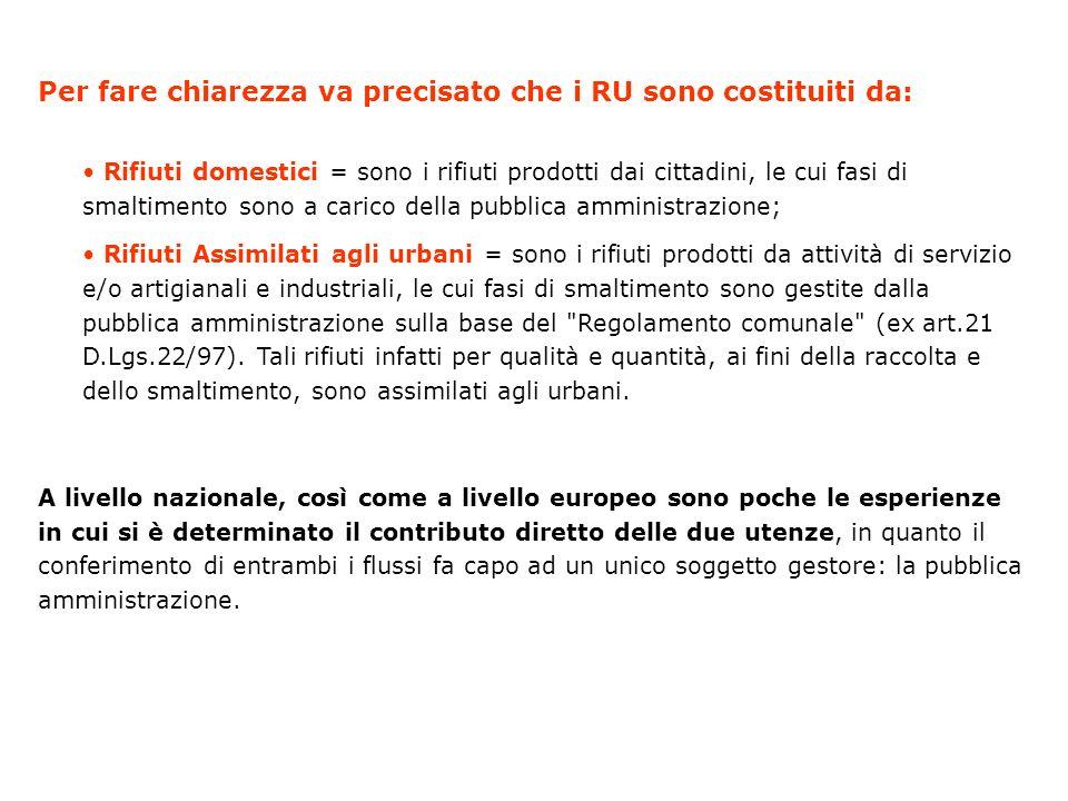 La gestione dei Rifiuti Urbani a Reggio Emilia Gestione dei rifiuti e politiche di riciclaggio nel Comune di Reggio Emilia