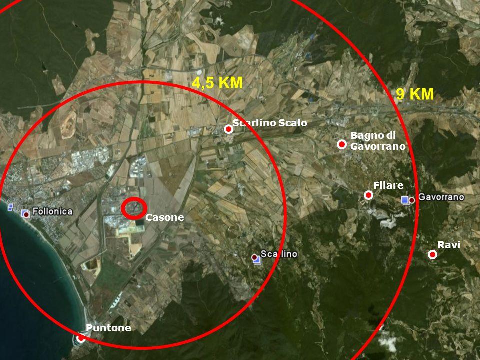 Filare Bagno di Gavorrano Scarlino Scalo Ravi Casone Puntone 4,5 KM 9 KM