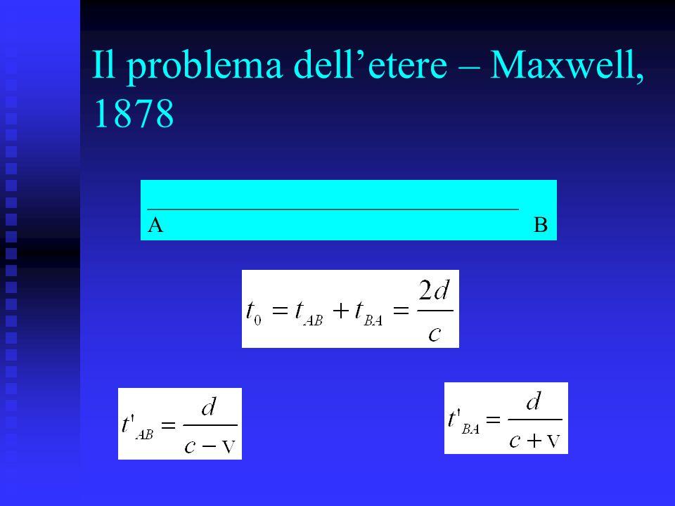 Il problema delletere – Maxwell, 1878 _________________________________ A B