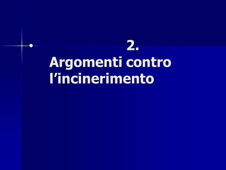 2. Argomenti contro lincinerimento 2. Argomenti contro lincinerimento