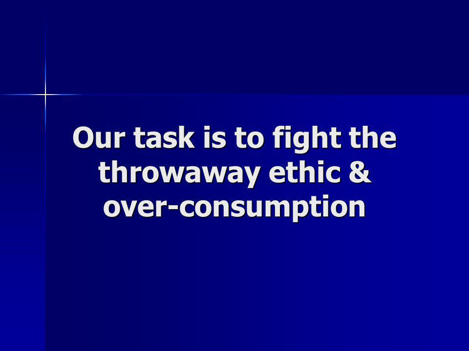 Not only is over-consumption giving us a waste crisis but also…