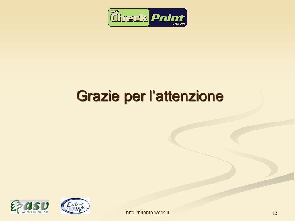 http://bitonto.wcps.it 13 Grazie per lattenzione