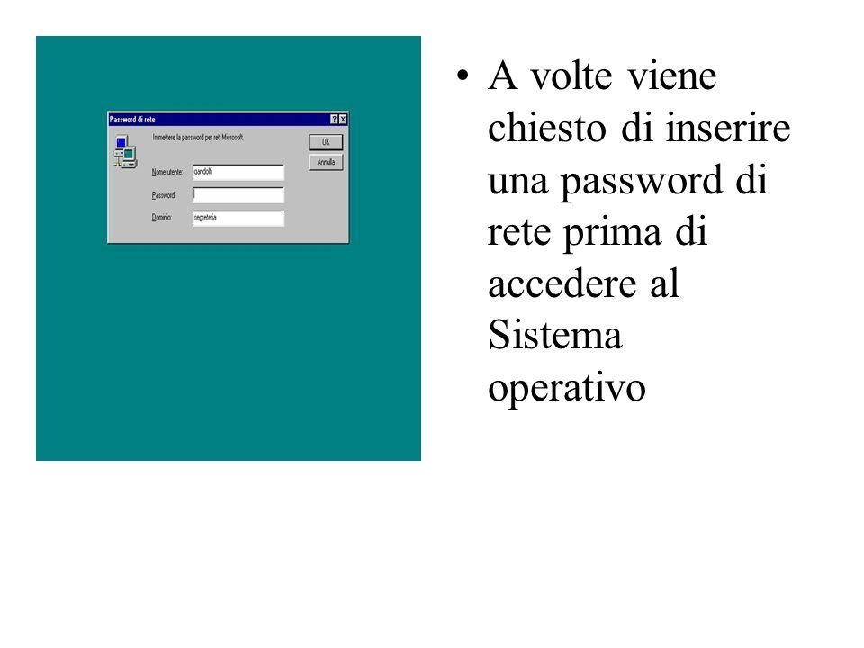 A volte viene chiesto di inserire una password di rete prima di accedere al Sistema operativo