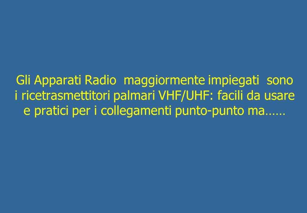 …il territorio variegato della nostra Isola ci obbliga ad impiegare i ripetitori per le comunicazioni Radio VHF ed UHF a media distanza.