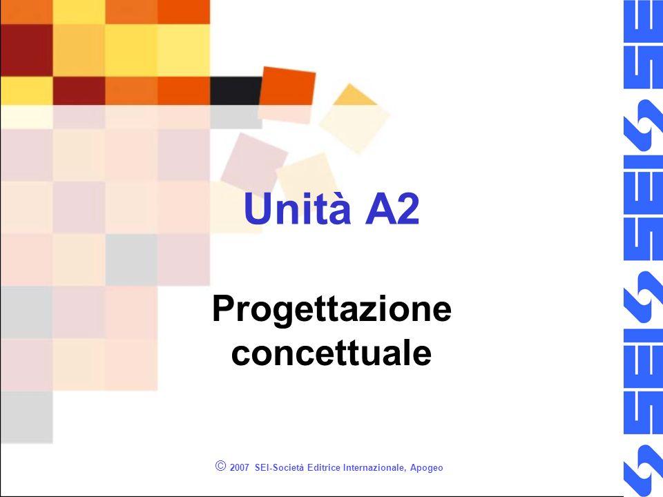 © 2007 SEI-Società Editrice Internazionale, Apogeo Unità A2 Progettazione concettuale