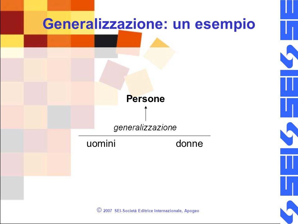 © 2007 SEI-Società Editrice Internazionale, Apogeo Generalizzazione: un esempio uominidonne Persone generalizzazione
