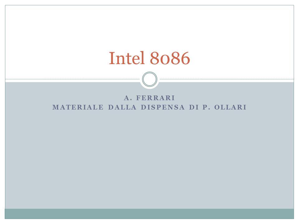 A. FERRARI MATERIALE DALLA DISPENSA DI P. OLLARI Intel 8086