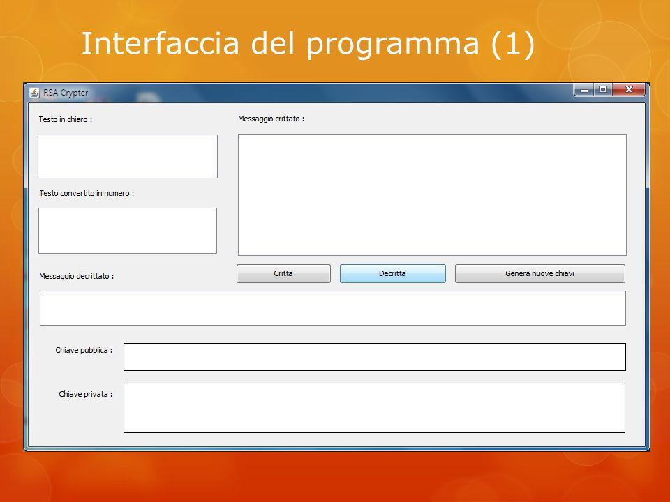 Interfaccia del programma (1)