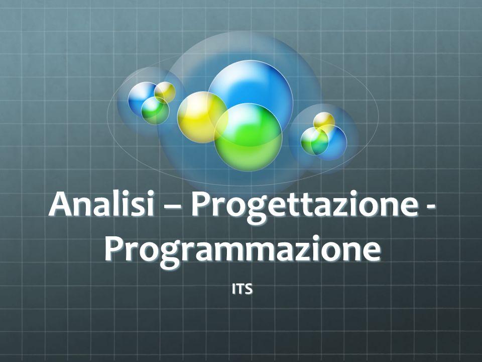 Analisi – Progettazione - Programmazione ITS