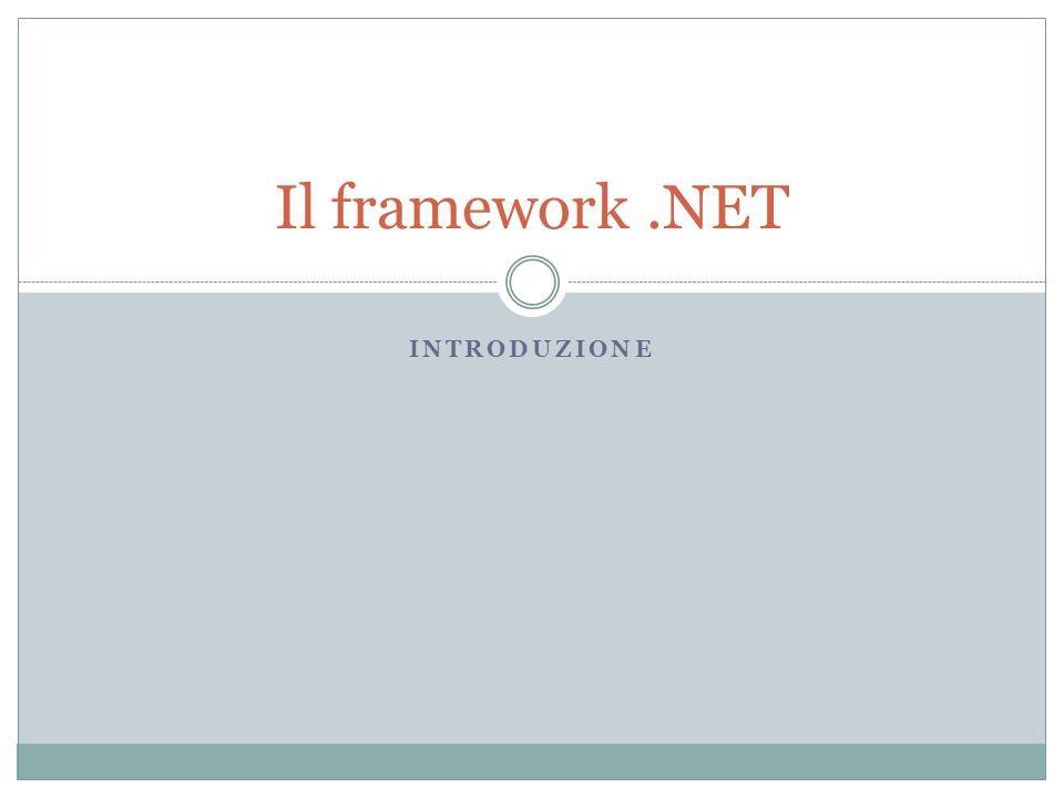 Sintesi Il Framework.NET è una piattaforma che si basa su delle regole standard e aperte.