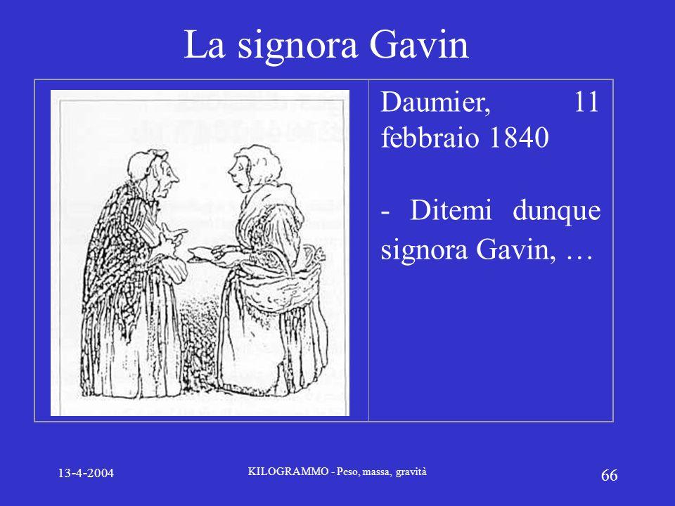 13-4-2004 KILOGRAMMO - Peso, massa, gravità 66 La signora Gavin Daumier, 11 febbraio 1840 - Ditemi dunque signora Gavin, …