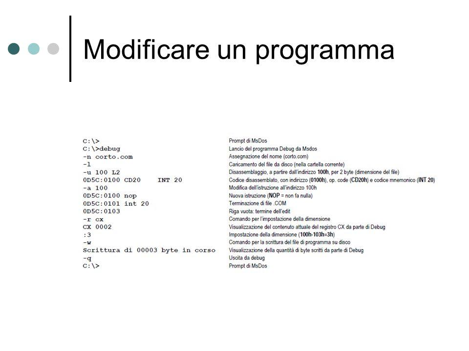 Modificare un programma