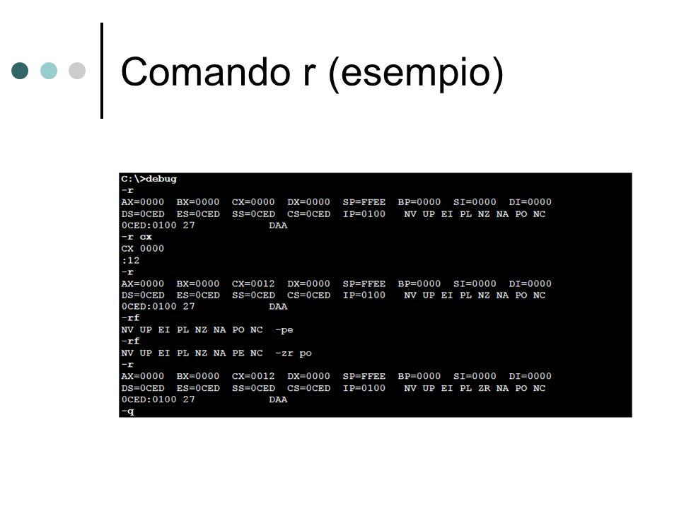 Comando r (esempio)