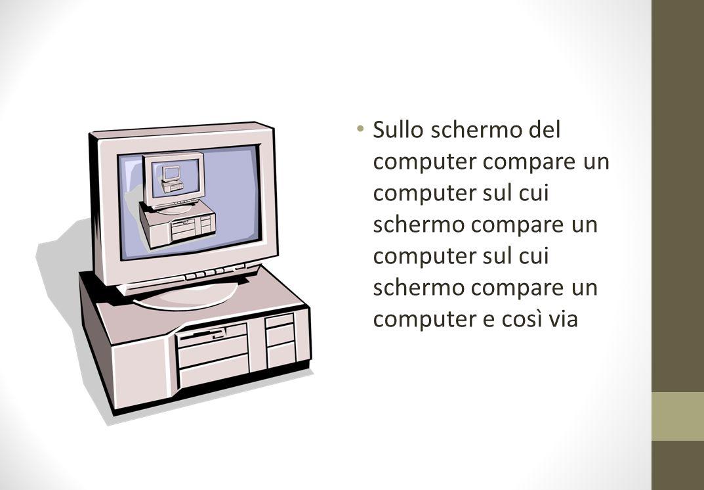 Sullo schermo del computer compare un computer sul cui schermo compare un computer sul cui schermo compare un computer e così via