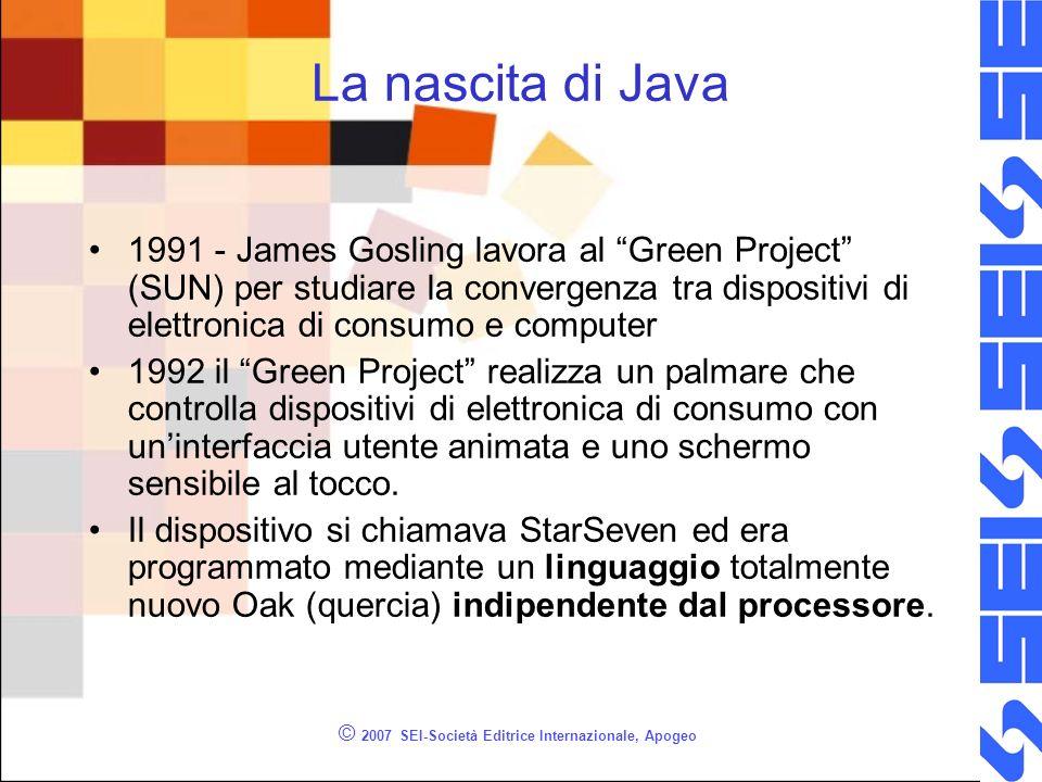 © 2007 SEI-Società Editrice Internazionale, Apogeo Oak Sintassi di Oak simile al C, ma include il supporto alla programmazione a oggetti.