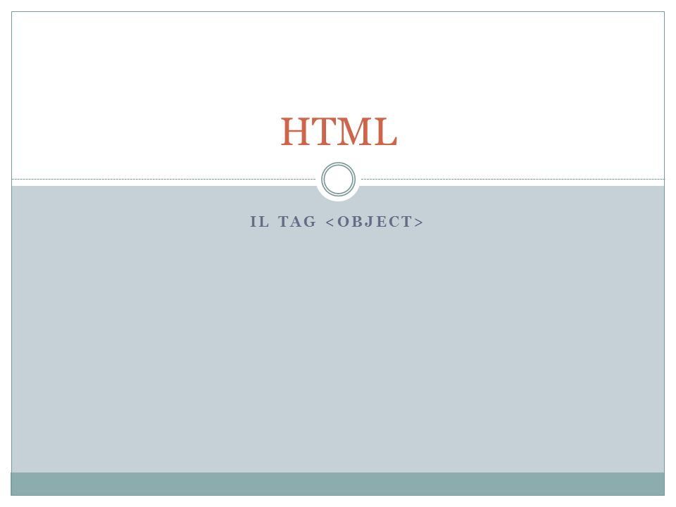 IL TAG HTML