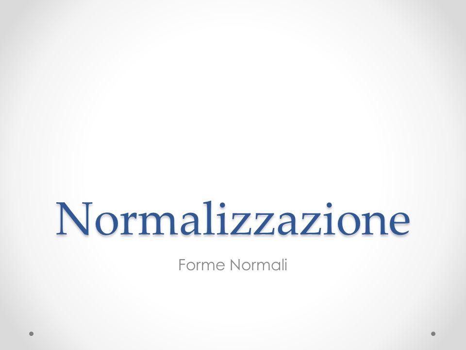 Normalizzazione Forme Normali