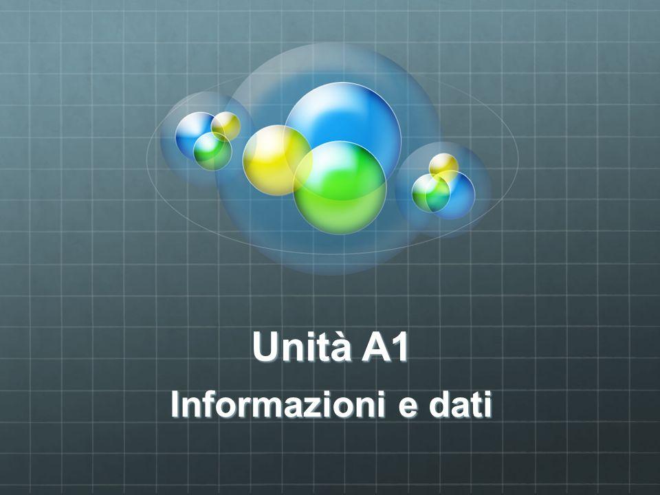 Unità A1 Informazioni e dati
