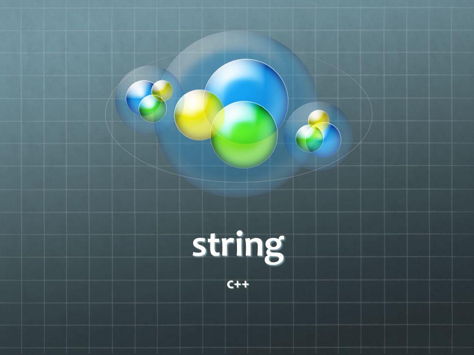 string c++