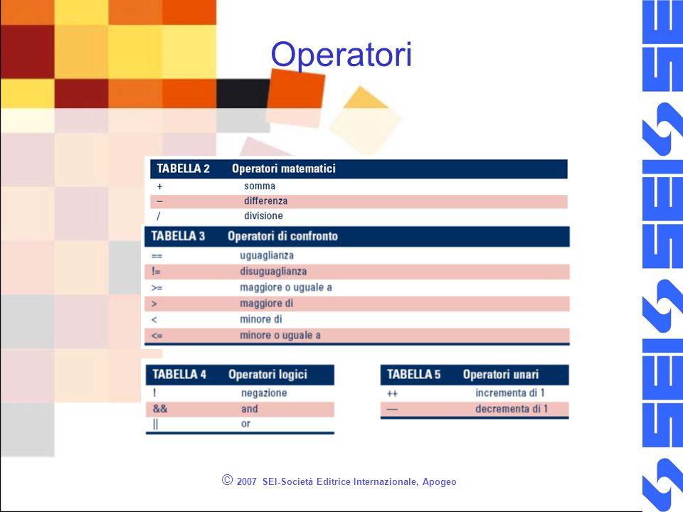 © 2007 SEI-Società Editrice Internazionale, Apogeo Operatori