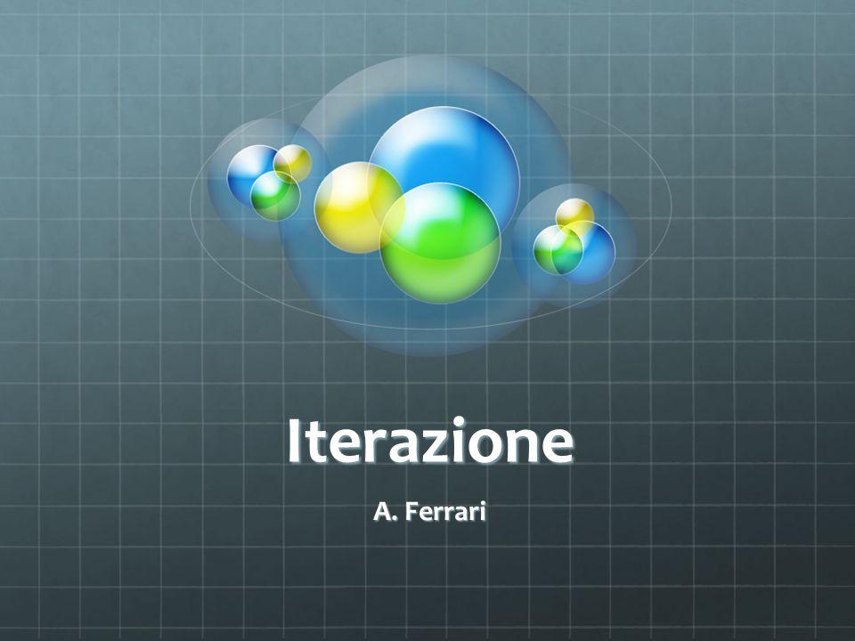 Iterazione A. Ferrari
